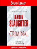 Karin Slaughter-Criminal - Audio Book on CD