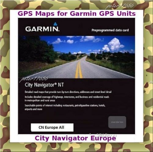 Europe Map For Garmin Devices on DVD